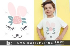 Easter SVG | Bunny Face Bunny Ears | Quarantined Easter SVG Product Image 3
