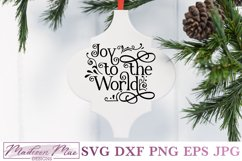 Arabesque Tile Christmas Ornament Svg, Joy To The World Product Image 1