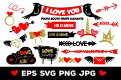 I Love You Photo Booth Props Elements Product Image 1