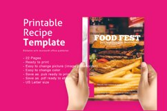 Recipe eBook Template Easy Editable Using Ms Publisher Product Image 1