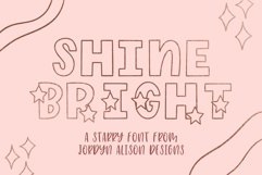 Shine Bright, Star Font Product Image 1