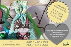 ITH -Drawstring Bag with Bunny - Embroidery File Product Image 2