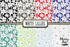 White Lillies - 16 Digital Papers/Backgrounds Product Image 2