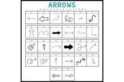 Arrows - A Doodle Font Product Image 5