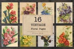 Floral bookpages, junk journal kit Product Image 1