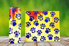 Skinny Tumbler Wraps Watercolor Pet Paws Product Image 4