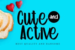 Cute and Active - Beauty Handwritten Font Product Image 1