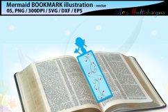 Mermaid bookmark clipart illustration / water girls bookmark Product Image 2