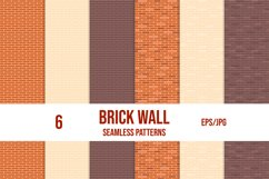 Set of brick wall seamless patterns. Vector tile patterns. Product Image 1