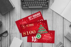 12 Christmas Voucher Template AI EPS CDR Product Image 4