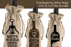 Thanksgiving Wine Bags - SVG and Cut Files for Crafters Product Image 2