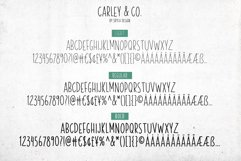 Skinny, handwritten, All Caps font family Carley & Co. Product Image 5