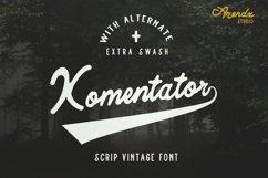 Komentator Vintage Font Product Image 1