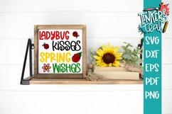 Ladybug Kisses Spring Wishes SVG Cut file Product Image 1