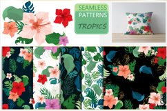 Tropical seamless patterns Product Image 1