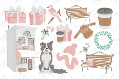 Pink Winter Watercolor Clipart Product Image 3