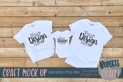 Parent, child and baby white Gildan t-shirt  Craft mock up Product Image 1