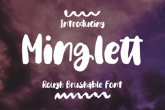 Minglett - Rough Brushable Font Product Image 1
