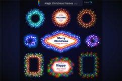 Magic Christmas Lights Vector Brushes Big Set Product Image 8