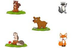 Set of Cute Cartoon Woodland Animals Product Image 2