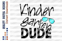 Kindergarten DUDE svg Back to school svg Teacher svg Product Image 2