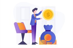 Investment Money Flat Vector Illustration Product Image 1