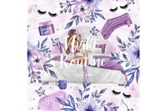 Bedtime digital paper, nightime routine, girly papers Product Image 5