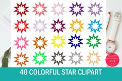 40 Star Clipart Set Product Image 1