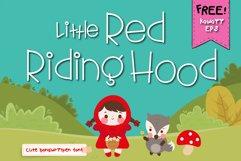 Little red riding hood Handwritten- cute kid font Kawaii Product Image 1