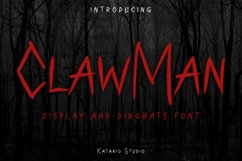 ClawMan | Web Font Product Image 1