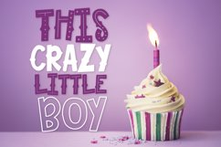 This Crazy Little Boy - A Fun Mixed Style Font Duo Product Image 1