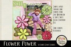 Flower Clipart Elements - Flower Digital Scrapbook Elements Product Image 2