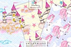 Magical Unicorn Digital Patterns Cute Pastel Colors DP011 Product Image 2