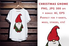 Sublimation Christmas Gnome PNG Product Image 1