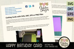Floral Happy Birthday Card SVG - Birthday Card Cutting Files Product Image 4