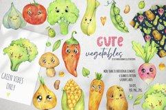 Cute vegetables clipart. Digital paper set Product Image 1