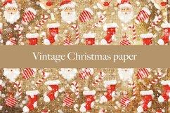 Vintage Christmas digital paper pattern Product Image 6