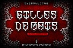 GILLES DE RAIS | gangster type font Product Image 1