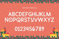 Holidays Font Duo Product Image 5