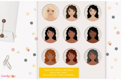 Crafty woman character clipart LVC60 Prim Product Image 4