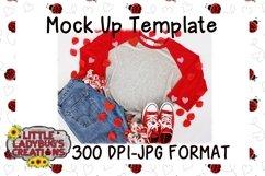 Valentine Raglan Mock Up Digital Image Product Image 1