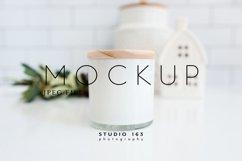 Candle Mockup, White Candle Mockup, Blank Candle Mockup Product Image 1