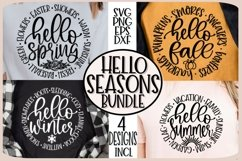HELLO SEASONS- FALL SPRING SUMMER WINTER - SVG PNG EPS DXF Product Image 5