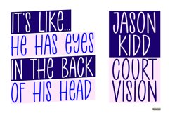 Court Side - A Playful Handwritten Font Product Image 2