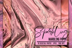 Marbled Paper collection. Rose Gold, Marbling Digital Paper Product Image 5