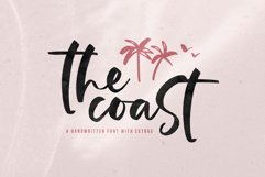 The Coast - Handwritten Script Font with Extras Product Image 1