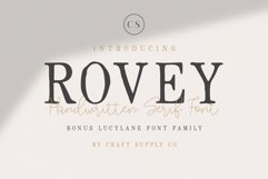 Rovey - Handwritten Serif Font with Bonus Product Image 1
