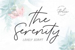 Serenity - Lovely Script Product Image 1