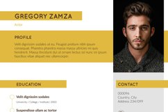 2 Actor Indesign Resume Templates Product Image 3