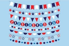Presidents Day Bunting Clipart Product Image 2